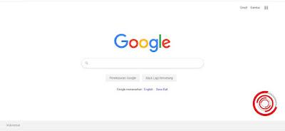 1. Langkah pertama silakan kalian akses mesin pencarian Google