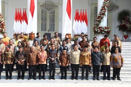 Daftar Nama-Nama Menteri Kabinet Indonesia Maju 2019-2024 Presiden Jokowi