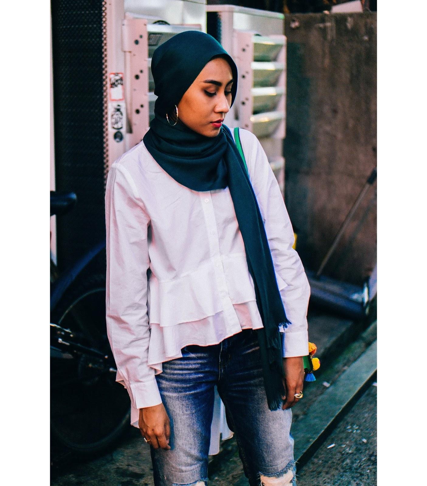 Zara Tiered Ruffle White Shirt Short Front Long Back