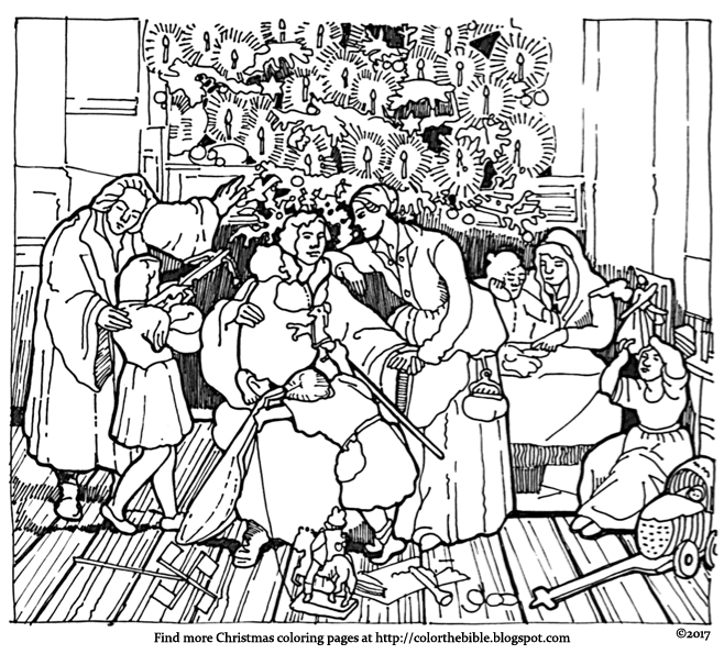 Martin Luther's Family Christmas | Color The Bible