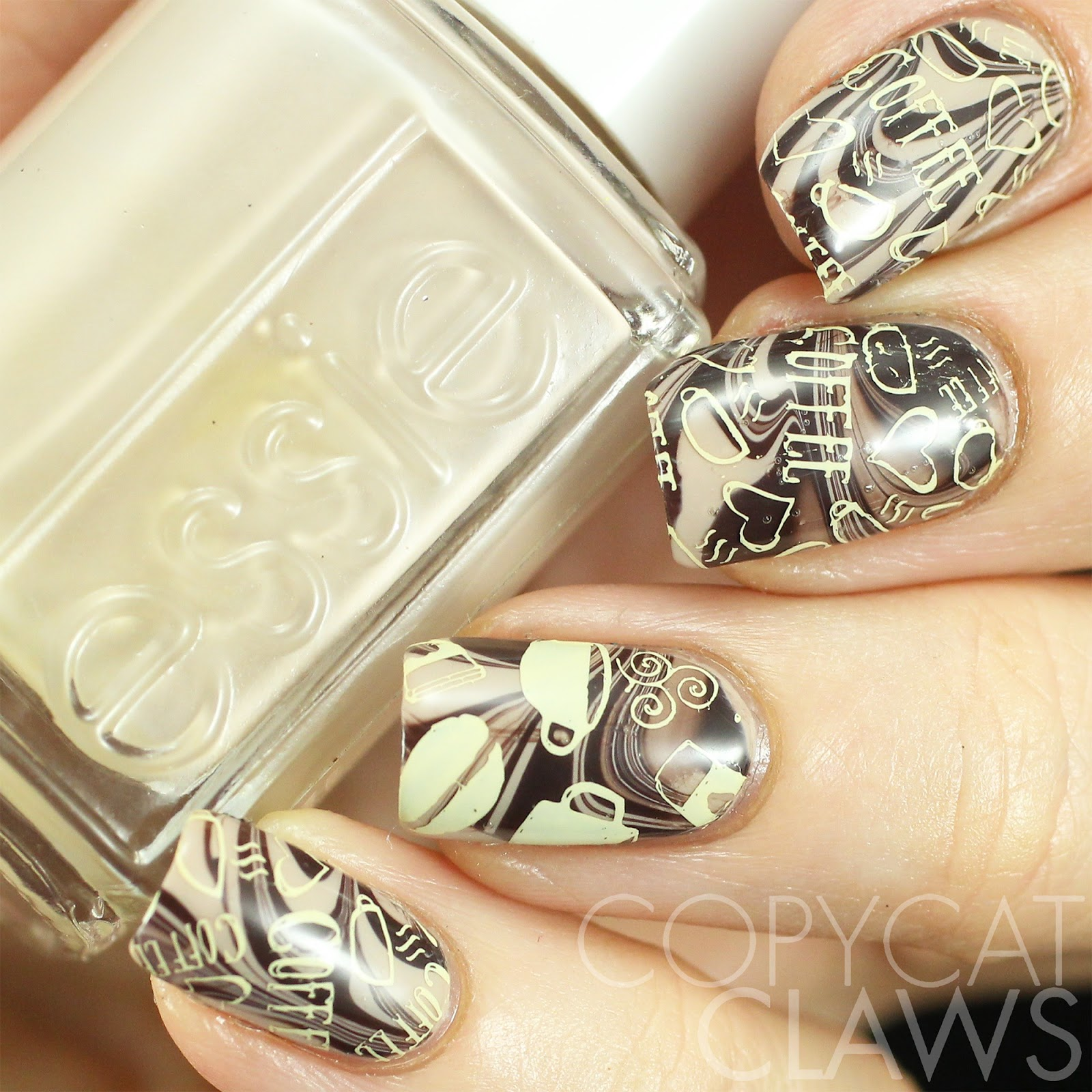 Coffee Art Nails Copycat Claws Nail Crazies Unite Coffee
