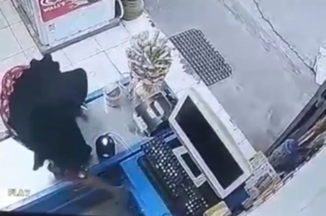 Video Emak-emak Berdaster Gasak Uang di Laci Swalayan di Bone Beredar