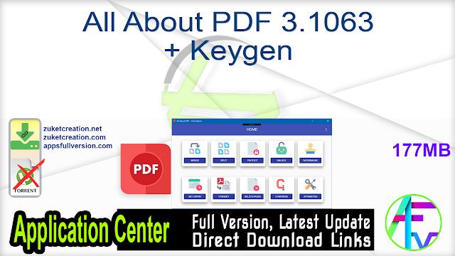 All About PDF 3.1063 + Keygen