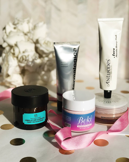 5 masks from different brands