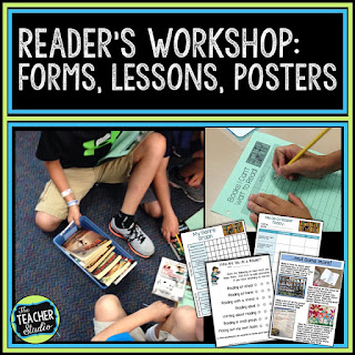 readers workshop, independent reading, readers workshop forms, reading goals, reading posters