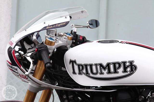 Triumph Bonneville By Hanse Qustom Hell Kustom