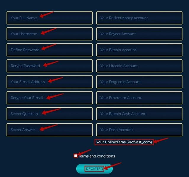 Регистрация в CryptoLine 2