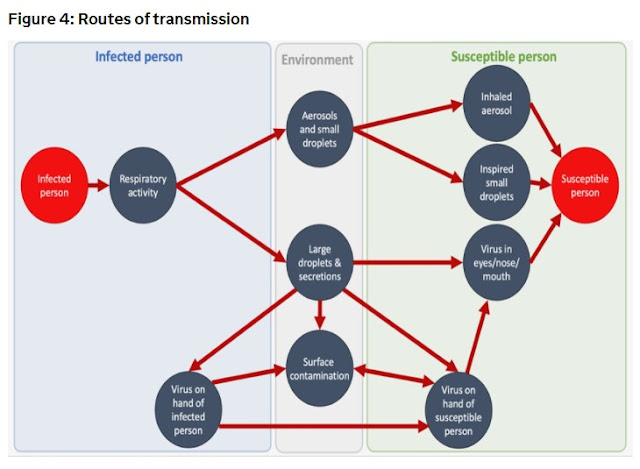 UK Gov routes of transmission chart how to catch COVID