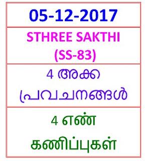 05-12- 2017 4 NOS Predictions STHREE SAKTHI (SS-83)