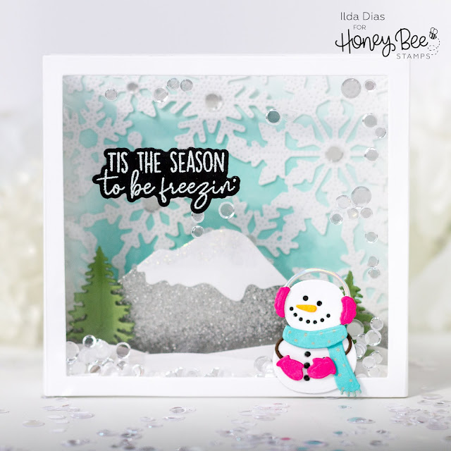 Vintage Holiday, Release, ,Honey Bee Stamps, Sneak Peeks, Snowman, Scene Builder Card Base, Card Making, Stamping, Die Cutting, handmade card, ilovedoingallthingscrafty, Stamps, how to,