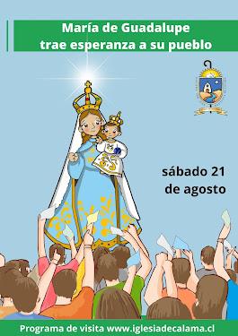 María de Guadalupe visita Calama