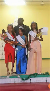 Dalia Uusiku (centre), Miss People's Primary School 2017