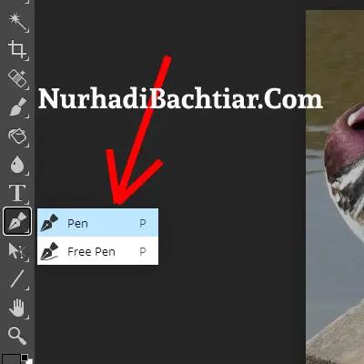 cara memotong gambar di photoshop dengan pentool