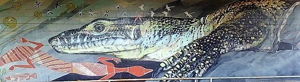 Street Art by Andrew J Bourke in Jabiru, Northern Territory