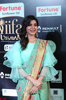Samantha Ruth Prabhu Smiling Beauty in strange Designer Saree at IIFA Utsavam Awards 2017  Day 2  Exclusive 32.JPG