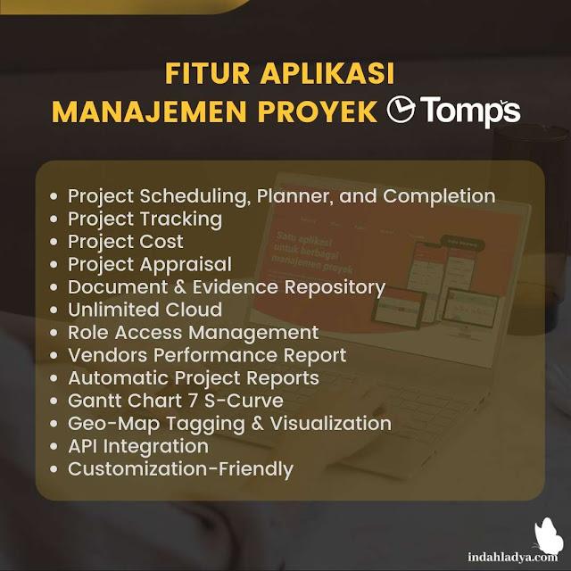 Fitur Aplikasi Manajemen Proyek Tomps