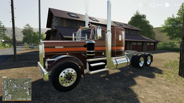 FS19 1974 Kenworth W900A Flat top v1.0
