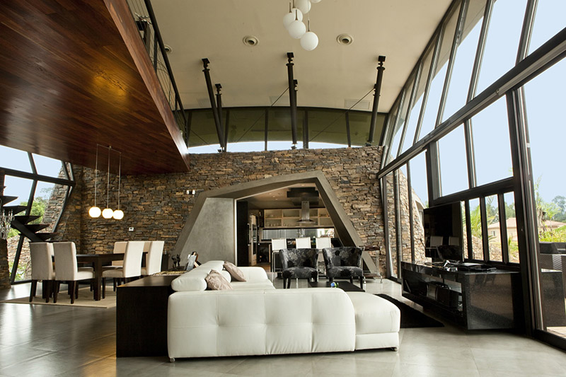 Tropical Modern Living Room Design