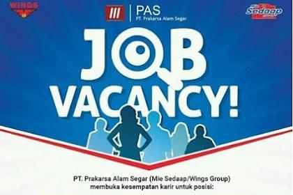 Info Lowongan Kerja PT. Prakarsa Alam Segar (PAS) Bekasi