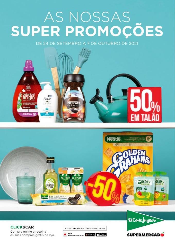 """Folheto EL CORTE INGLÉS - """"As Nossas Super Promoções"""" com descontos e promoções até 07 de otubro"""