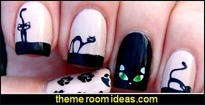 Cute Cat Pattern Watermark Designs cats Nail Art Stickers kittens Water Transfer Decals kitty kat Beauty Nails cats Nail Art Design
