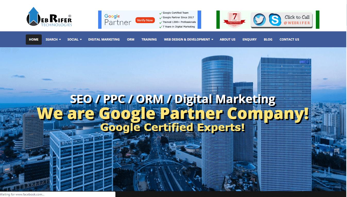 Webrifer Technologies - Digital Marketing Training Institute in chennai - Amudhakumar
