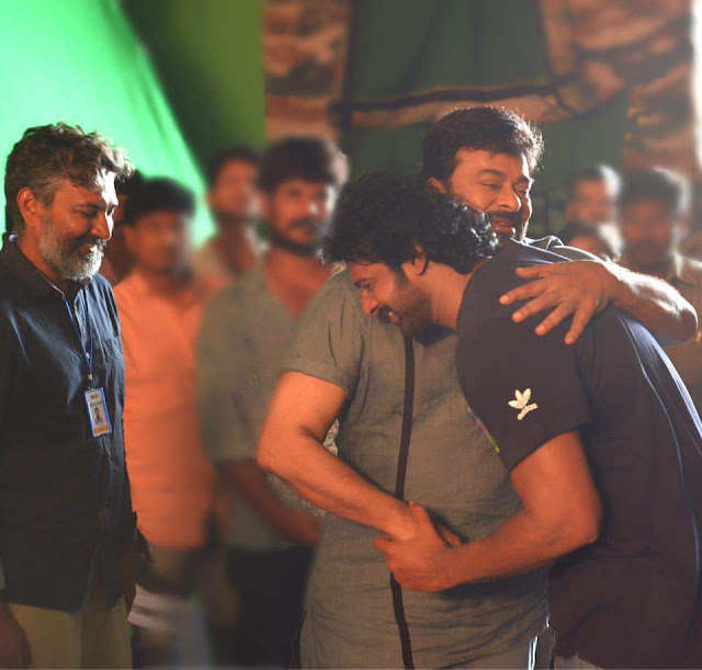 Prabhas on the sets of khaidi no 150