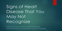 "Picture saying ""Signs of Heart Disease That You May Not Recognize"""