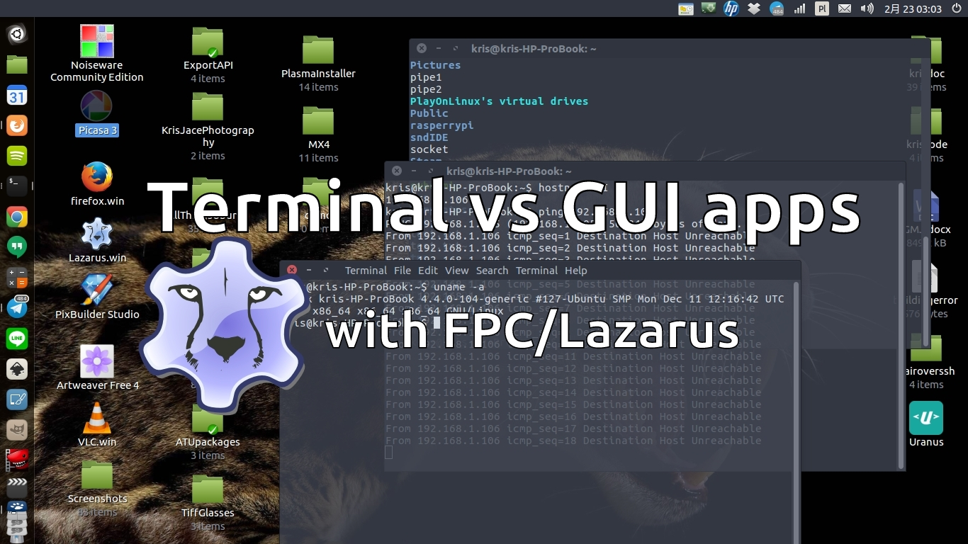Console vs GUI application in Object Pascal - is it either-or?