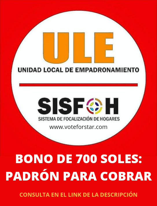 SISFOH para los bonos de agosto 2021
