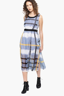Nush Womens Printed Calf Length Dress