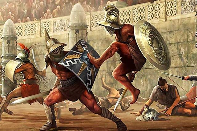 Priscus dan Verus di Gladiator
