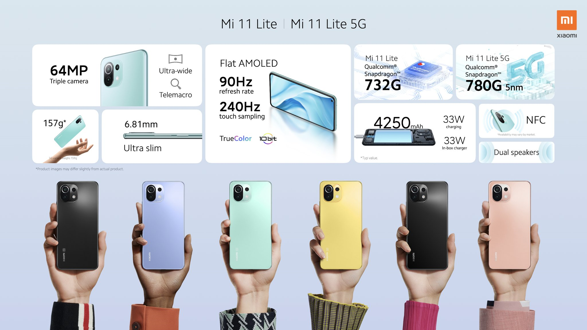 Nuovi Xiaomi Mi 11 Lite, Lite 5G, Mi 11i, Pro, Ultra e Smart Band 6 | Video