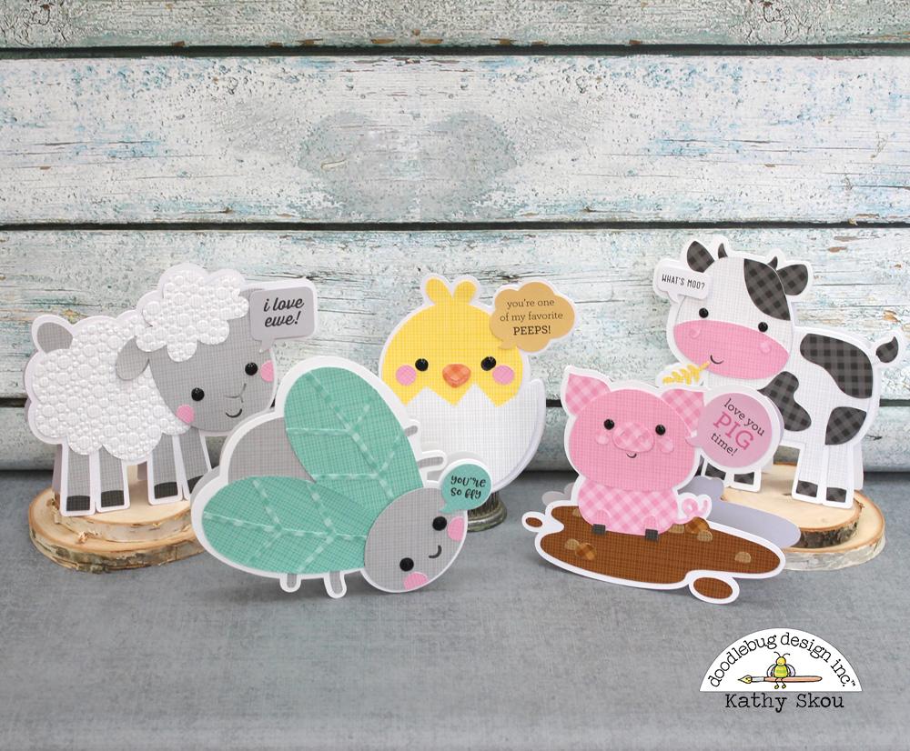 Doodlebug Design Inc Blog Down On The Farm Cut File Cards With Kathy