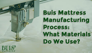 Image of a sewing machine sewing a mattress