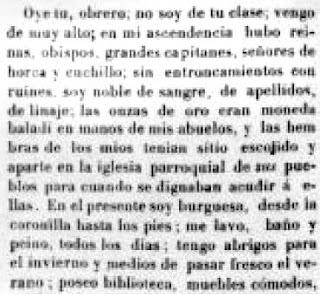 fragmento del texto publicado en Heraldo de París