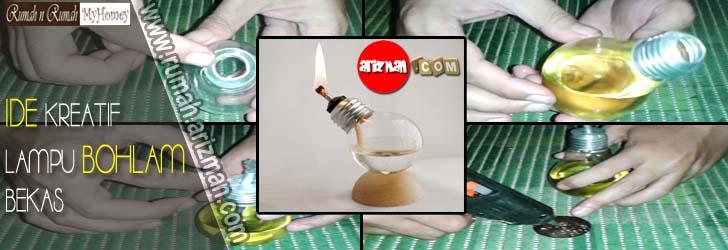 Ide Kreatif Dari Lampu Bohlam Bekas
