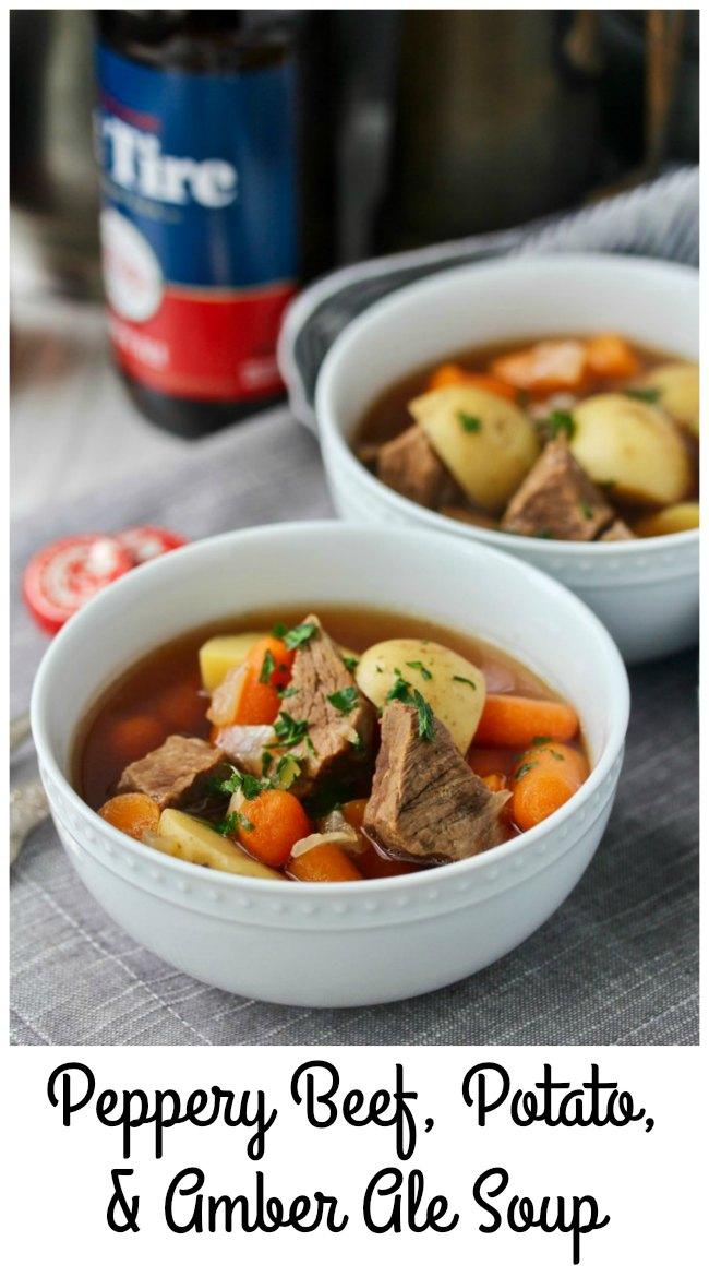 Instant Pot Beef, Potato, and Beer Soup
