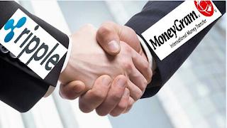 شراكة بين شركة تحويل الاموال MoneyGram وعملة الريبل XRP