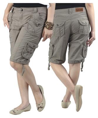 Celana Pendek Cargo Wanita