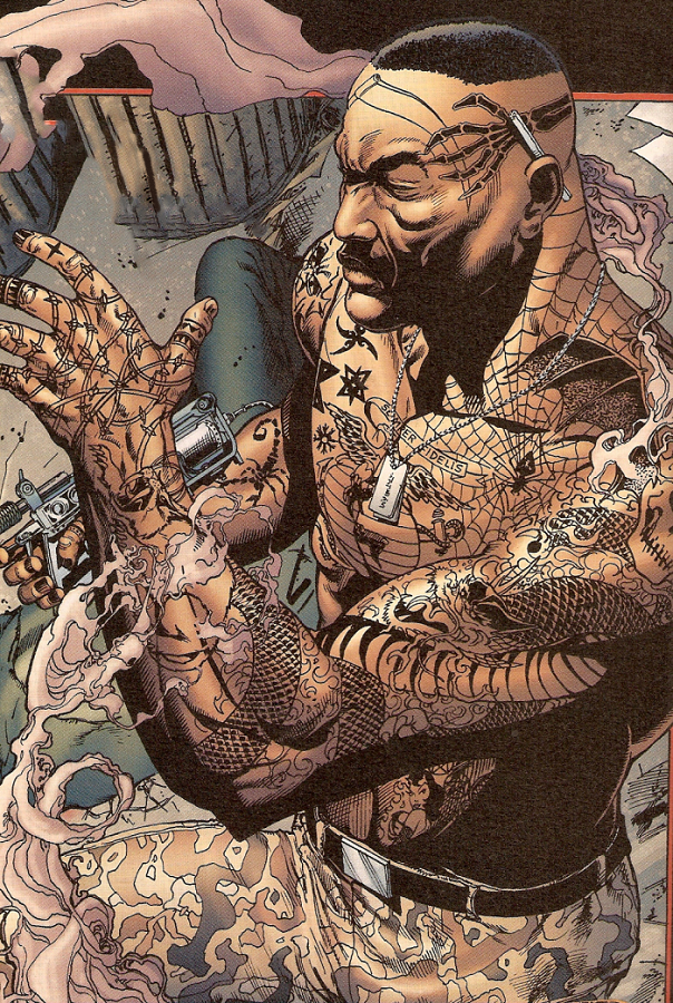 Black Supervillain Tattooed Man Ink Blerds Online