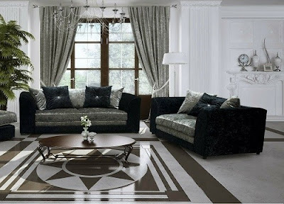Bella Crushed Velvet 3 + 2 Seater Sofas