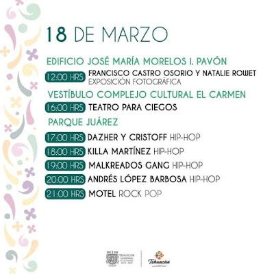 18 de marzo programa festiva tehuacán 2020