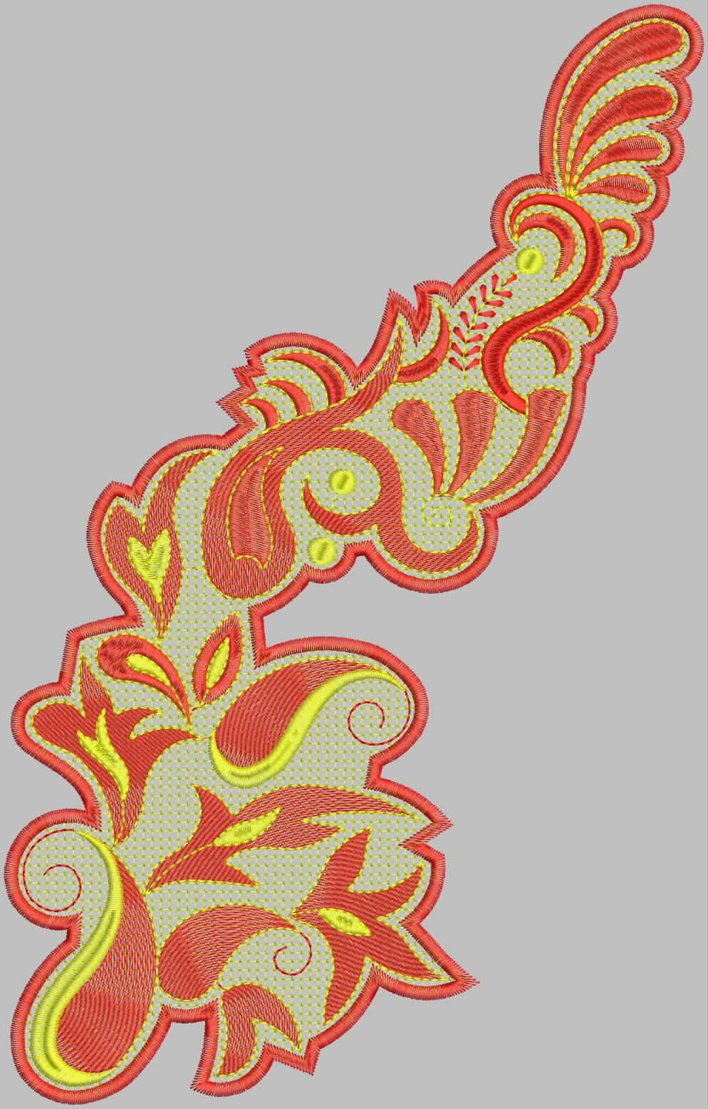 Embdesigntube Ready To Use Patch Embroidery Design- Latest Collection By Kishan
