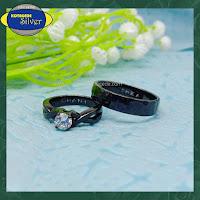 cincin kawin black rodium