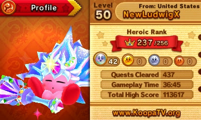 Team Kirby Clash Deluxe 42 platinum medals Beam Mage high score heroic rank