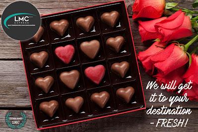 LMC Express transport chocolates for Valentine's Day