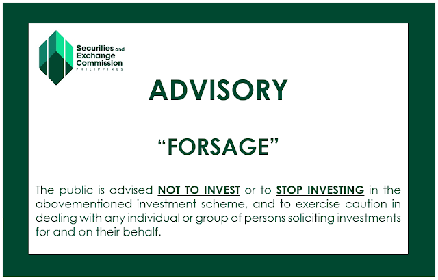 SEC warns against Forsage, other schemes
