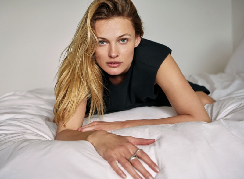 Edita Vilkeviciute Lounges in Zara's New Styles
