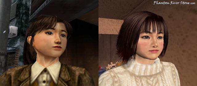 Ryo's love interest candidates for Shenmue: Izumi Takano and Nozomi Harasaki.